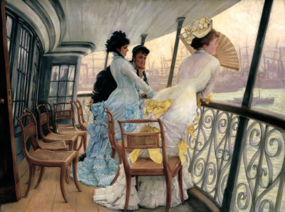 The Gallery of HMS Calcutta circa 1876 Poster Art Print by James Jacques Joseph Tissot