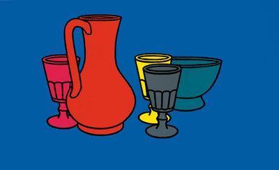 Colorido Still Life 1967 por Patrick Caulfield - impressões Tate, cópias da lona Tate, Tate enquadrado impressões