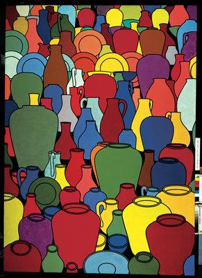 Olaria de 1969 por Patrick Caulfield - impressões Tate, cópias da lona Tate, Tate enquadrado impressões