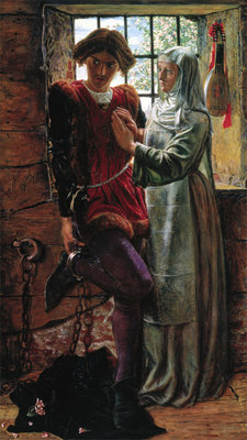 Fine Art Print of Claudio & Isabella, 1850 by William Holman Hunt