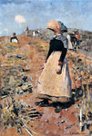 Berwickshire Field-Workers, 1884 Poster Art Print by Gilbert Spencer