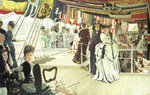 Ball on Shipboard, c.1874 Poster Art Print by James Jacques Joseph Tissot