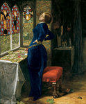 Mariana, 1851 Poster Art Print by William Holman Hunt