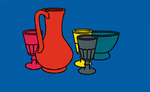 Coloured Still Life 1967 Poster Art Print by Patrick Caulfield