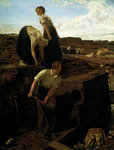 Turf Cutters, 1869 Poster Art Print by Gilbert Spencer