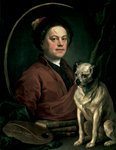 The Painter and his Pug, 1745 Poster Art Print by Edgar Degas