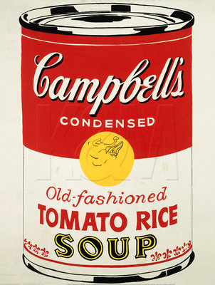 Campbell's Soup Can (Old Fashioned Tomato Rice), 1962 Poster Art Print by Andy Warhol