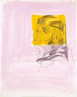 Profile of a Woman, 1962 Poster Art Print by Andy Warhol