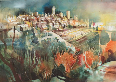 San Gimignano ***SOLD*** by Bernhard Vogel - art