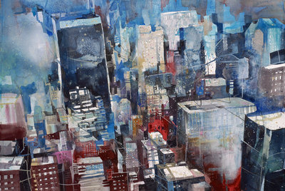 New York Solo Building ***SOLD*** by Bernhard Vogel - art
