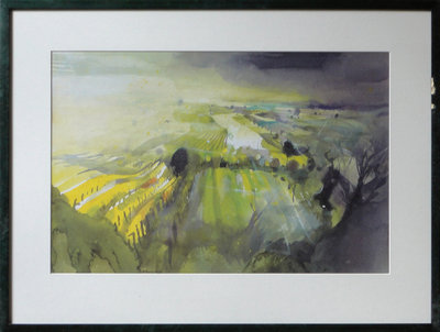 Burgenland, Landschaft Bei Donnerskirchen by Bernhard Vogel - art