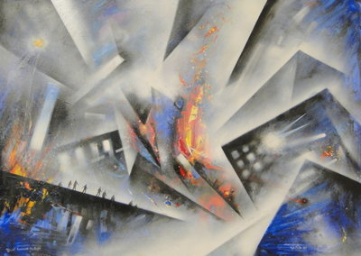 Blast Furnace No. Eight by David Wilde - art