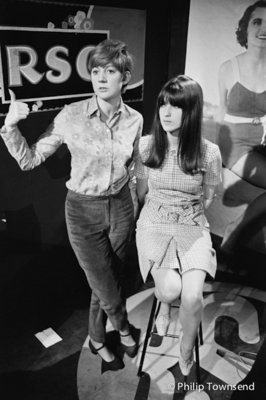 Cilla Black and Cathy McGowan on Ready Steady Go (small) by Philip Townsend - art