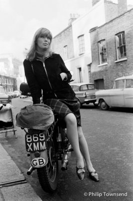 Nico on Motorbike (medium) by Philip Townsend - art