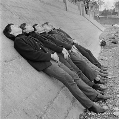Rolling Stones sleeping on the Thames Embankment (medium) by Philip Townsend - art