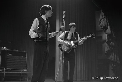 Mick and Keith on stage at Studio 51 (small) by Philip Townsend - art