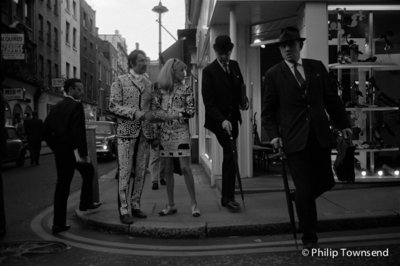 Pearly King and Queen, Carnaby Street (medium) by Philip Townsend - art