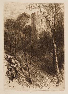 The Keep from the Moat, 1864 - 1908 by Henry Pope - print