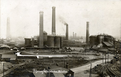 Bilston Steelworks, Bilston, 1920 by Unknown - print