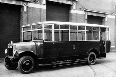 Guy Motor Bus, Wolverhampton, May 1925 by Unknown - print