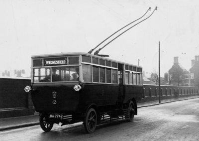 Trolleybus, Wolverhampton Road, Wednesfield, 1923 by Unknown - print
