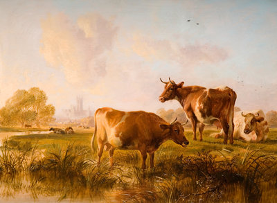 In The Canterbury Meadows, 1863 by Thomas Sidney Cooper - print