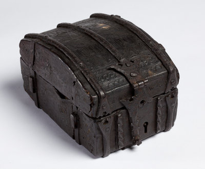 Box covered with tooled leather, 1538 by Unknown - print