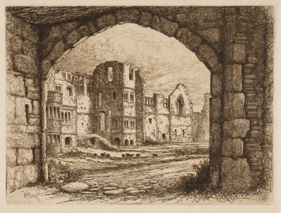 The Courtyard from the North Gate, 1864 - 1908 by Henry Pope - print