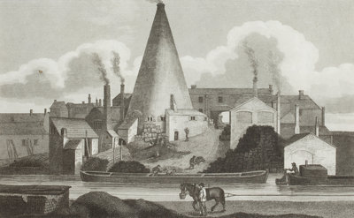 Exterior View of Aston Flint Glassworks, c.1800 by Unknown - print