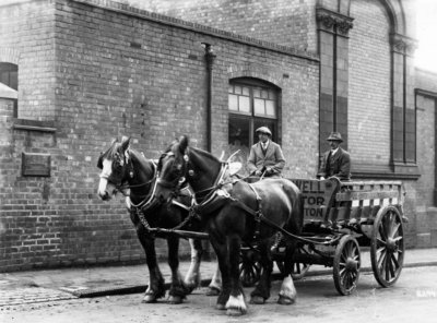 Horse-Drawn Vehicle, M. A. Boswell (Contractors) Ltd., Wolverhampton , circa 1920s by Unknown - print