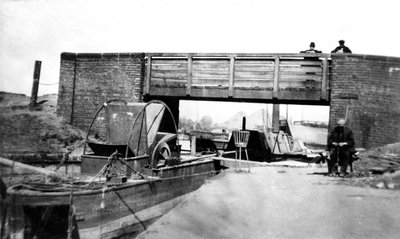 Canal Arm, Bilston Steelworks, 1928 by unknown - print