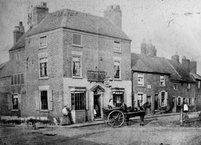 Elephant and Castle Inn, Wolverhampton, circa 1876 by unknown - print