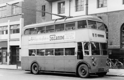 Sunbeam Trolleybus, Bilston Street, Wolverhampton, 23 June 1963 by unknown - print
