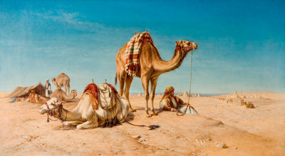A Halt in the Desert, 1867 by William Luker - print