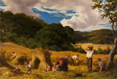 Cornfield in Surrey, 1860 by William Linnell - print