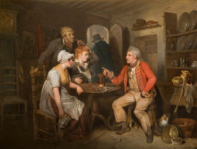 The Old Soldier's Story, 1808 by Edward Bird - print