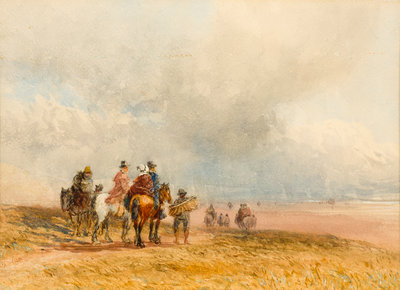 Crossing the Sands, Ulverston, 1800 - 1859 by David Cox - print