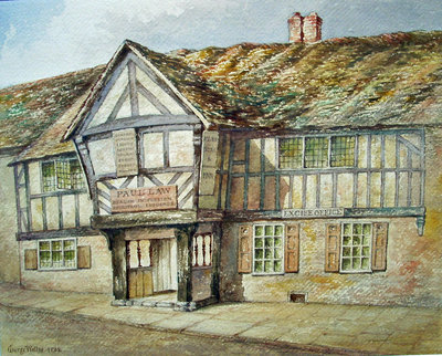 Frontage Of Tudor Shop (Star and Garter Inn, Wolverhampton), 1811 - 1891 by George Wallis - print