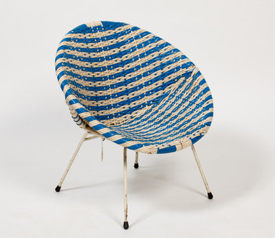 Child's circular chair, 1950s by Unknown - print