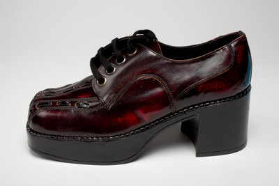 Men's platform shoes, c.1975 by Unknown - print
