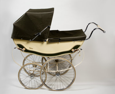 A 'Hubcar' pram, or baby carriage, 1960s by unknown - print