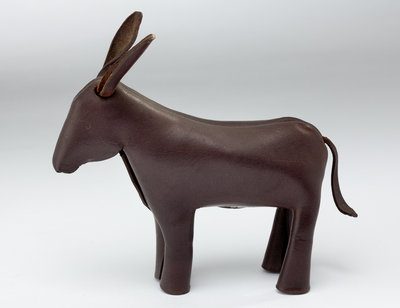 Prototype leather donkey developed for the American Democratic Party, c.1955 by Unknown - print