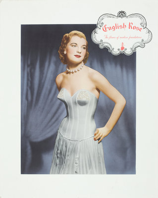 English Rose Foundation Garments advertisement poster, Walsall Lithographic Company Limited by unknown - print