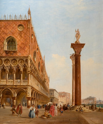 Ducal Palace, Venice, 1840 by David Roberts - print