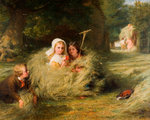 Nestlings, 1870 by George Bernard O'Neill - print