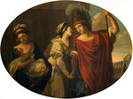 Decorative panel (Farewell of Hector and Andromache), 1769 by Angelica Kauffmann - print