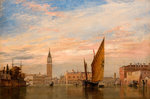On The Grand Canal (Venice), 1851 by Edward William Cooke - print