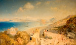 Castle of Ischia and the Gulf Islands, 1863 by James Baker Pyne - print