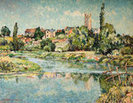 Somerset Village, c.1944 by Florence Whittle - print