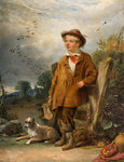 The Bird Scarer, Mid 19th century by William Knight Keeling - print